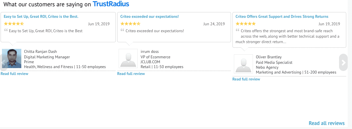 TrustRadius CDR reviews
