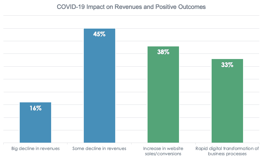 COVID-19 impact on revenues and positive outcomes