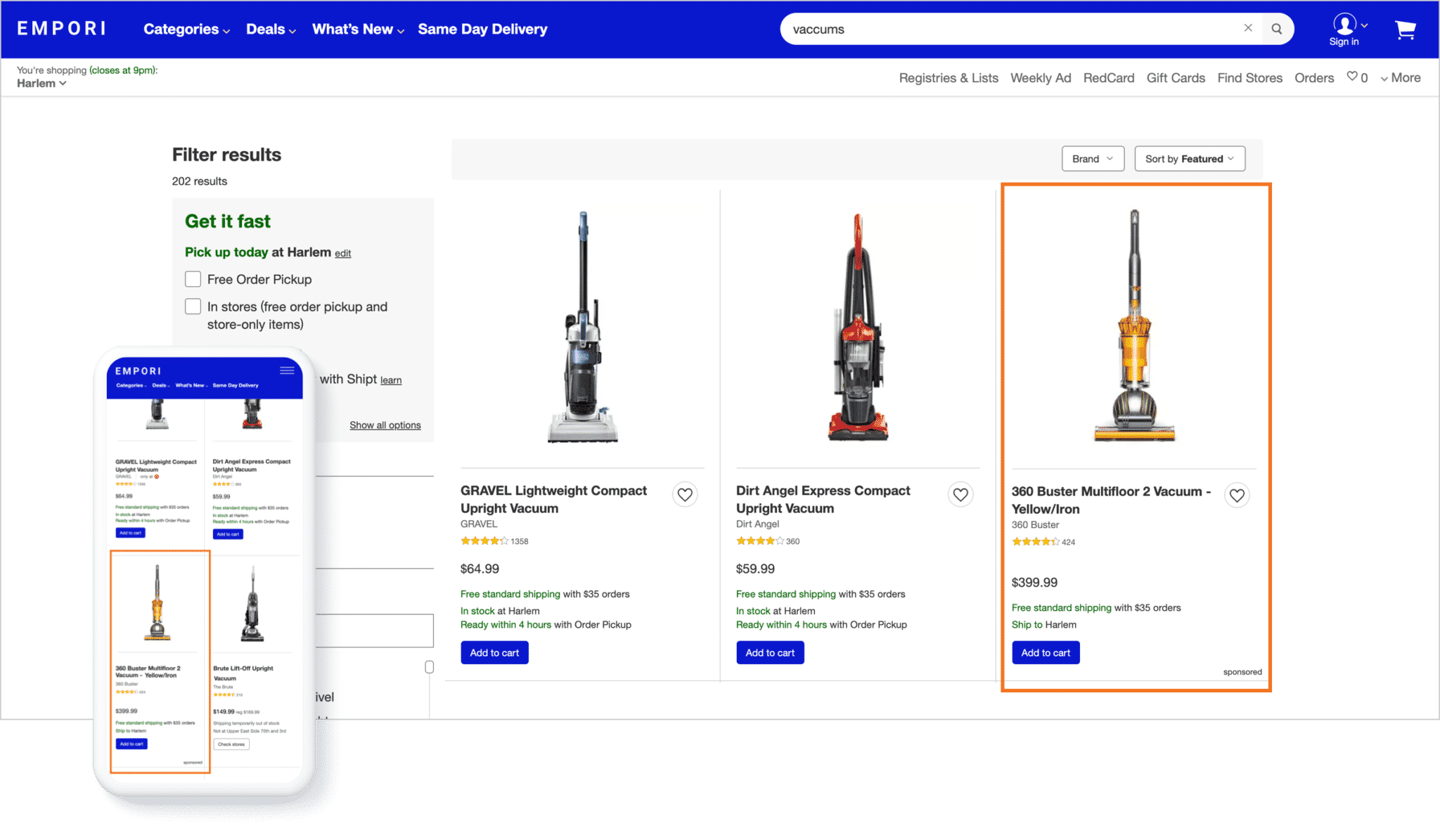 sponsored product ad example