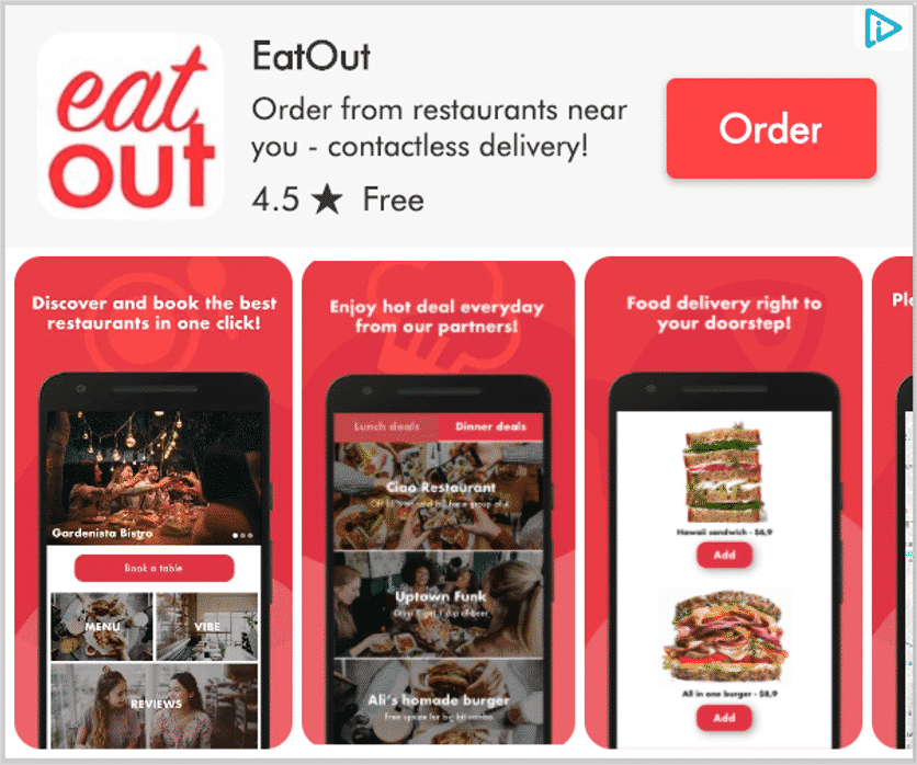 Food Delivery App Install Ad Creative