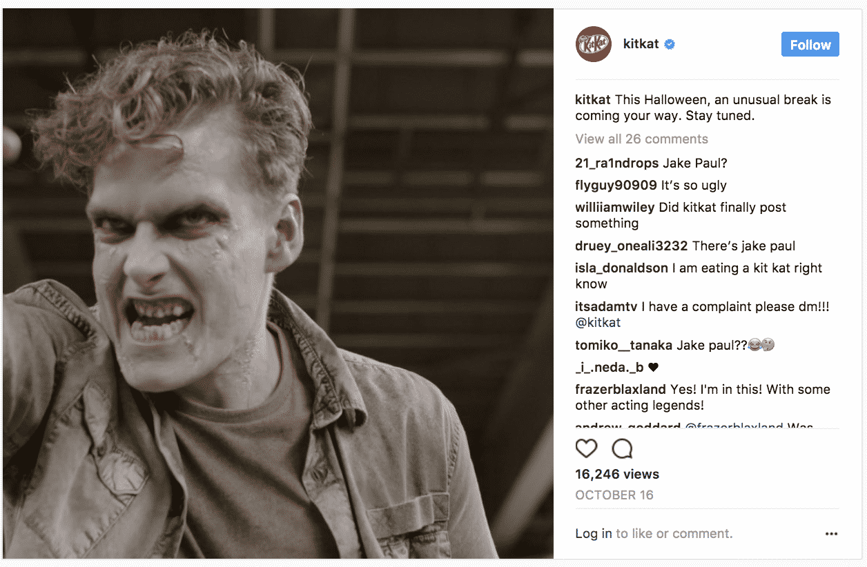 Kit Kat Halloween Instagram