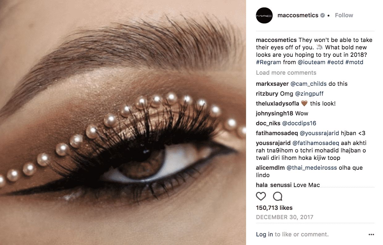 But in addition to the glittery eyes and hyper-pigmented lips, it also celebrates the makeup artist community by regramming MAC artists and promoting ...