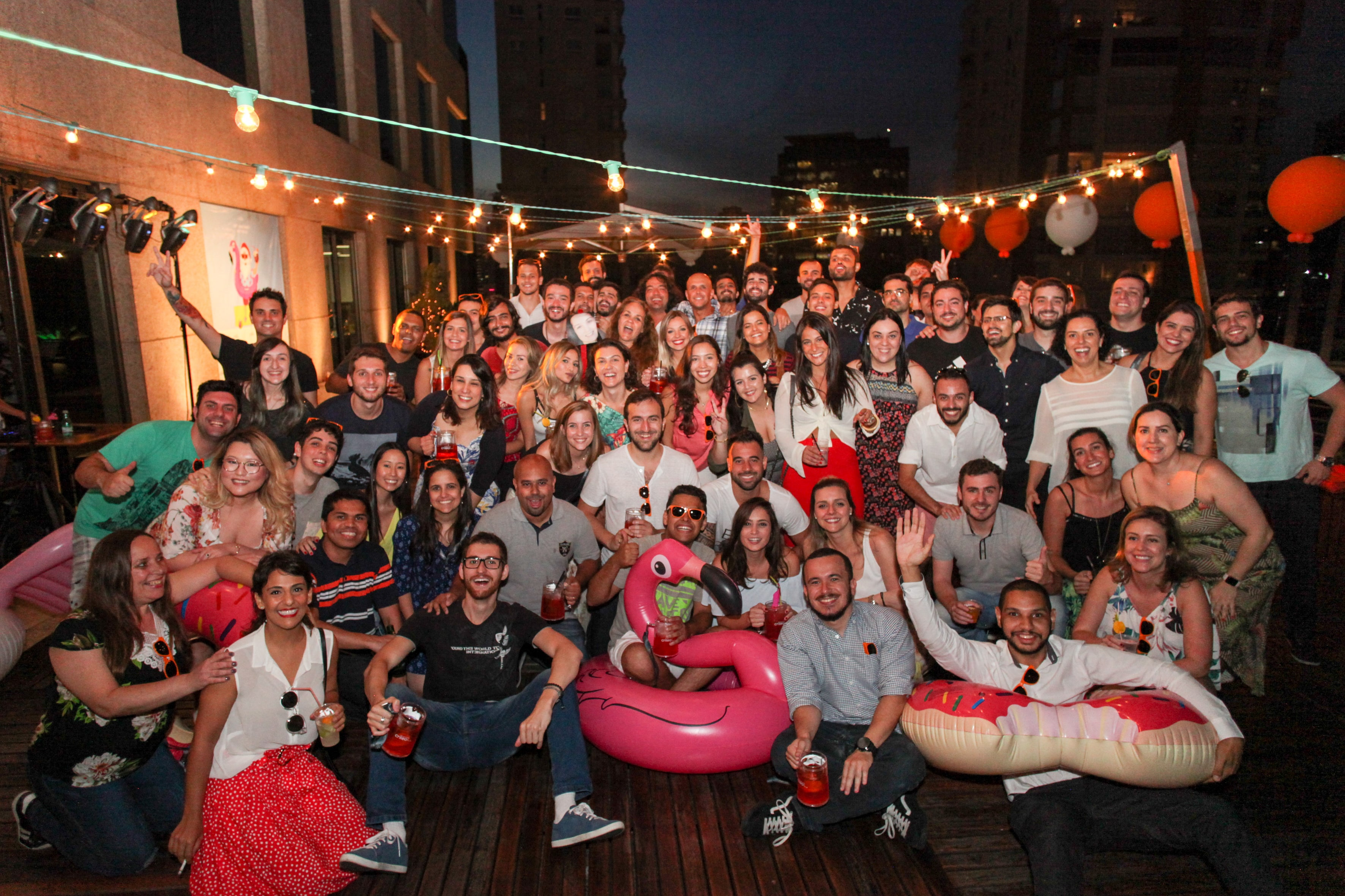 Criteo Brazil Christmas Party Team Photo