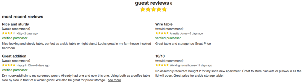 example of user generated content in the form of reviews