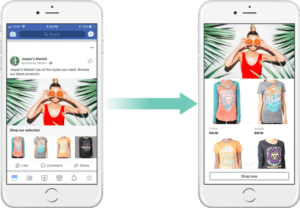 Facebook collection ad example