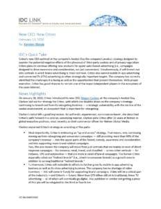 [ANALYST REPORT] IDC: New CEO, New Criteo