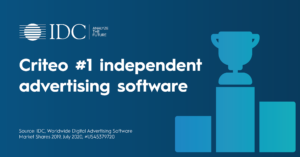 IDC - Criteo #1 independent AdTech 2019 - socmed