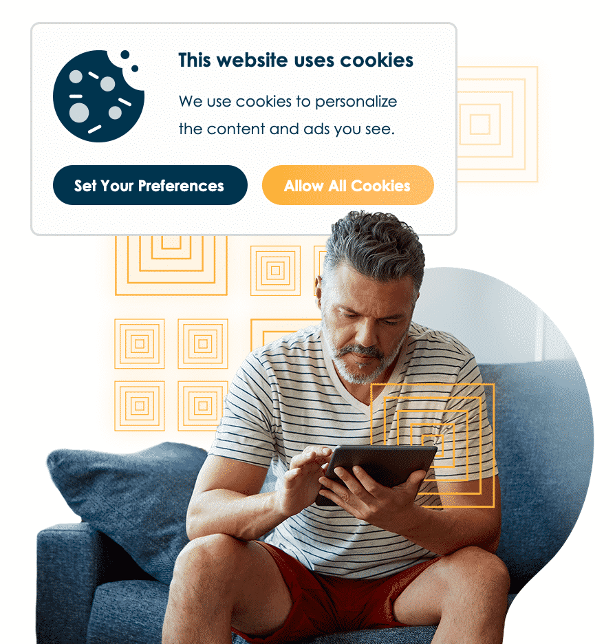 A pop-up for setting your cookie preferences.