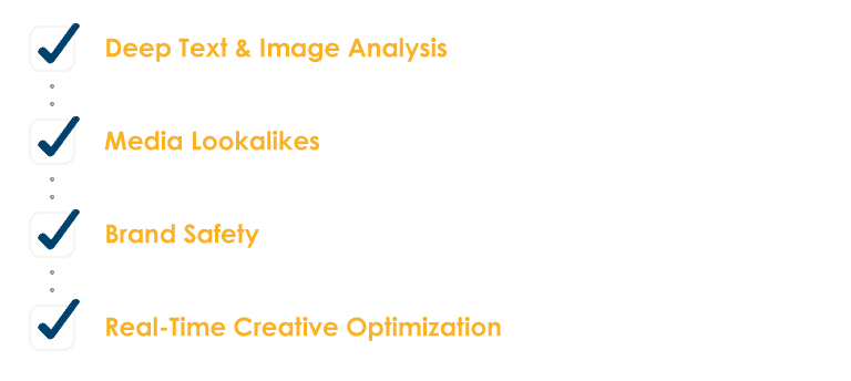 Deep text and image analysis, media lookalikes, brand safety, and real-time creative optimization.
