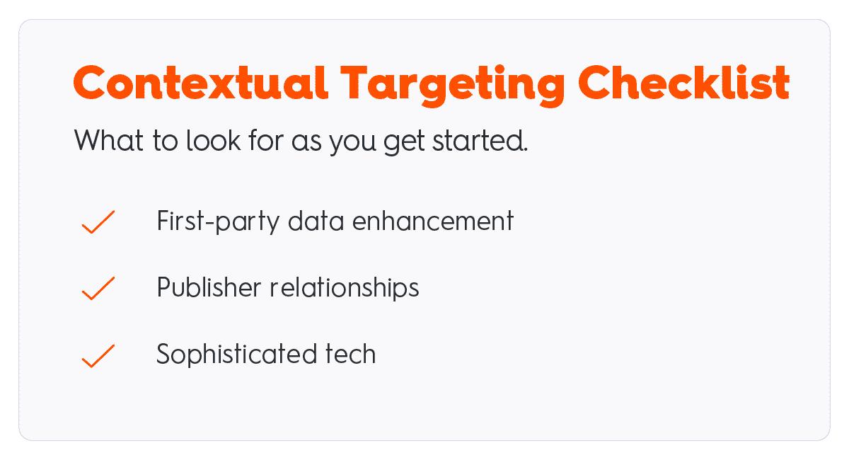 contextual targeting checklist