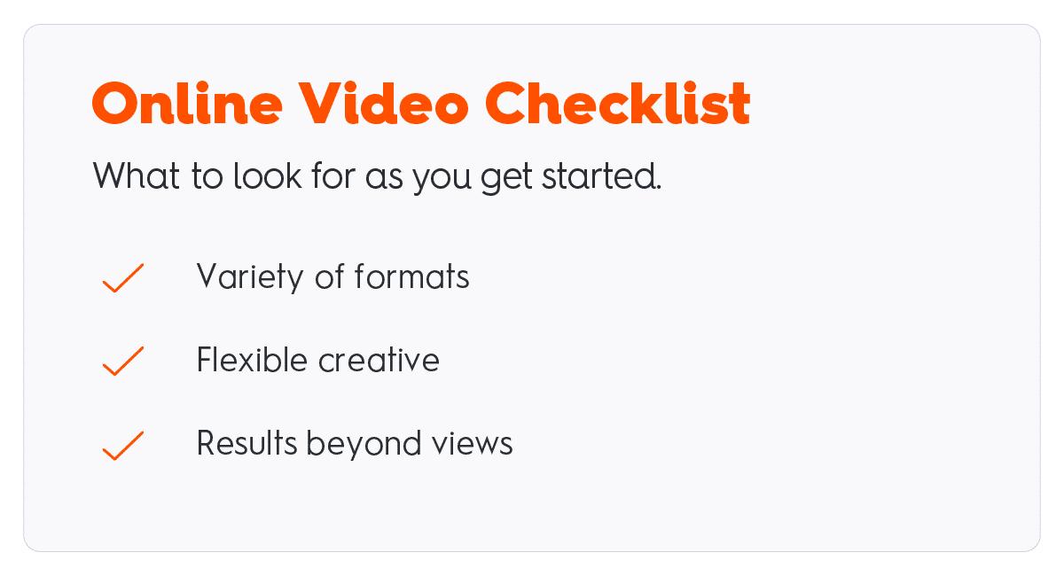 online video advertising checklist